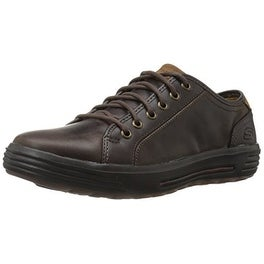 Skechers USA Men's Porter Ressen Oxford, Chocolate, 8 M US