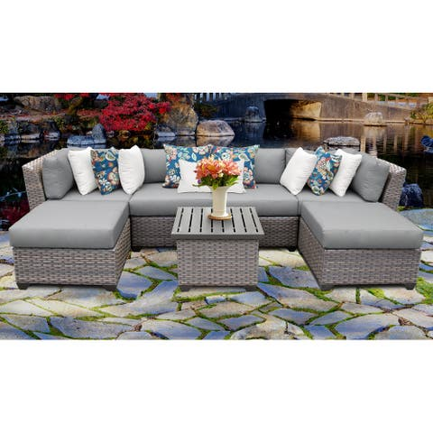 Florence Wicker 7-piece Outdoor Patio Furniture Set