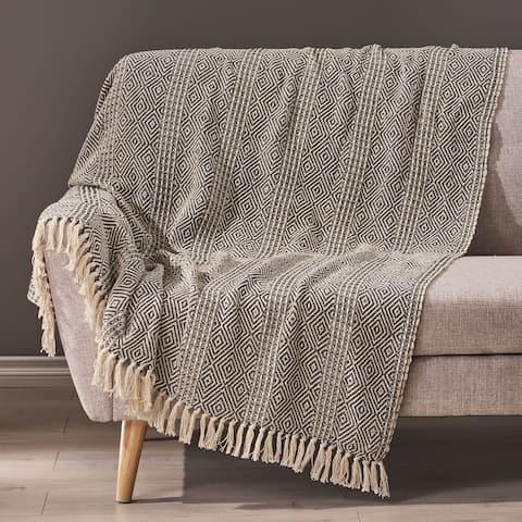 Dermody Boho Fabric Throw Blanket by Christopher Knight Home