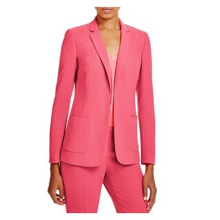 Elie Tahari Womens Wendy One-Button Suit Jacket Collar Long Sleeves