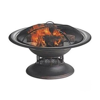 Blue Rhino WAD15129MT BRUSHED COPPER WOOD BURNING OUTDOOR FIREBOWL - Black
