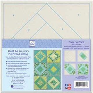 Paris On Point - Quilt As You Go Printed Quilt Blocks On Batting
