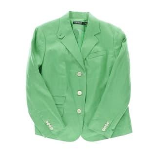 Lauren Ralph Lauren Womens Plus Three-Button Blazer Linen Classic|https://ak1.ostkcdn.com/images/products/is/images/direct/be7d566c713d6b423ffcbb5cedcf1efae378de36/Lauren-Ralph-Lauren-Womens-Plus-Linen-Classic-Three-Button-Blazer.jpg?impolicy=medium