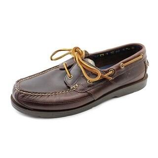 Timberland Kia Wah Bay Men Moc Toe Leather Brown Boat Shoe
