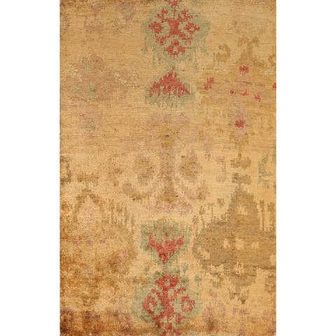 """Abstract Contemporary Oriental Area Rug Hand-knotted Home Decor Carpet - 5'7"""" x 8'3"""""""