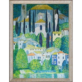Gustav Klimt 'Church in Cassone' (Landscape with Cypress) Hand Painted Oil Reproduction