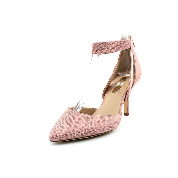 INC International Concepts Zaphire Women W Round Toe Leather Pink Heels