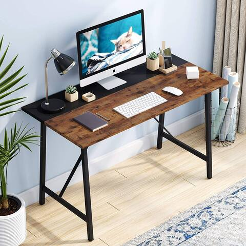 43 Inch Computer Desk Small Writing Study Laptop Desk for Home Office, Space-Saving Desk