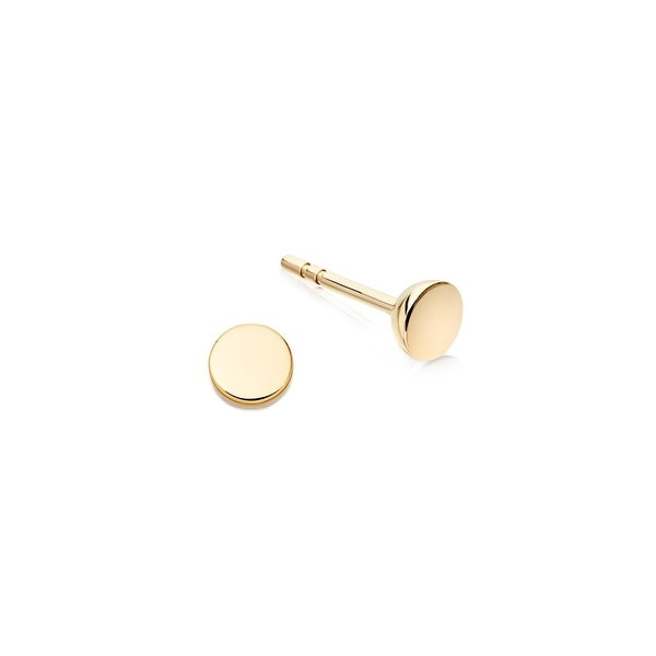 Fashionvare Women S 925 Sterling Silver Disc Stud Earrings Gold