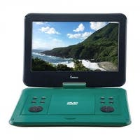 Impecca DVP-1330T 13 in. Portable DVD Player, Teal