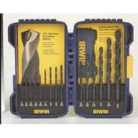 Irwin 314015 Hss Black Oxide Drill Bit Set, 15 Pcs