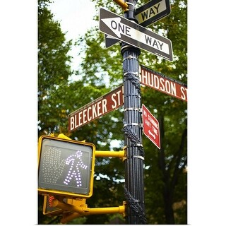"""Street signs in NYC"" Poster Print"