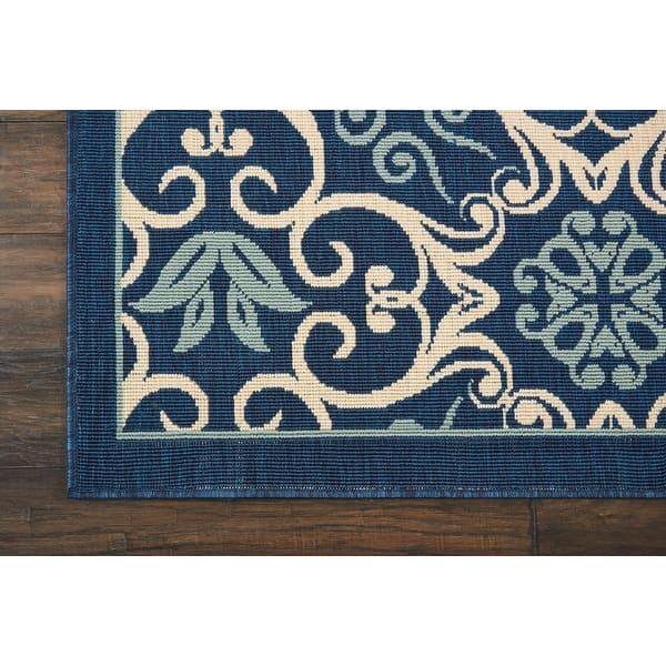 Nourison Caribbean Floral Geometric Indoor Outdoor Area Rug On Sale Overstock 10247810