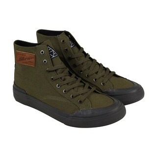 HUF Classic Hi X British Millerain Mens Brown Textile High Top Sneakers Shoes