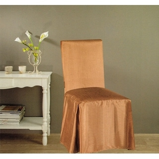 Jenny Faux Silk Dining Chair Cover