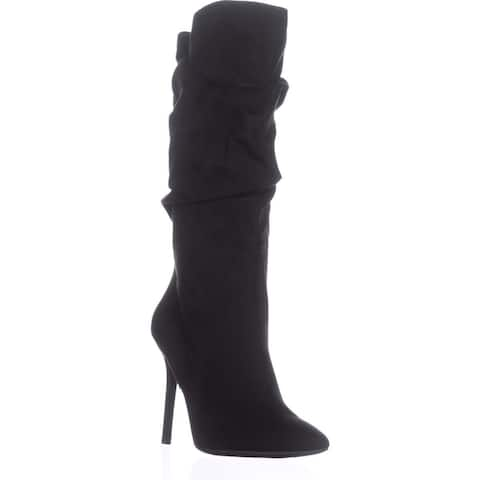 Jessica Simpson Womens lyndy Suede Pointed Toe Mid-Calf Fashion Boots