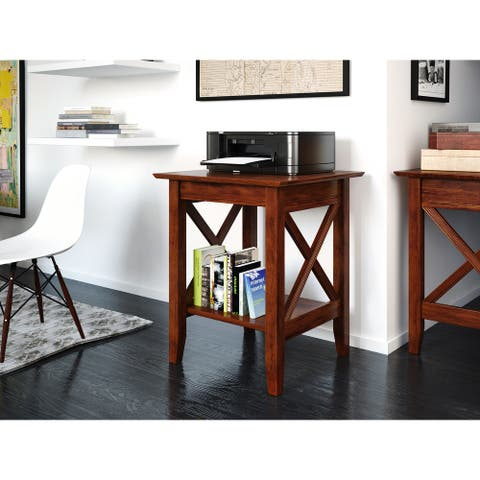 Atlantic Furniture Lexi Walnut Wood Printer Stand