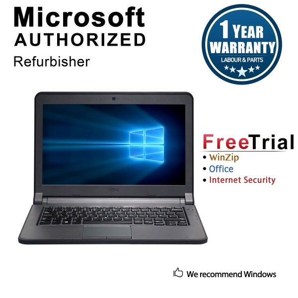 "Refurbished Dell Latitude E3340 13.3"" Laptop Intel Core i5 4200U 1.6G 4G DDR3 320G Win 10 Pro 1 Year Warranty - Black"