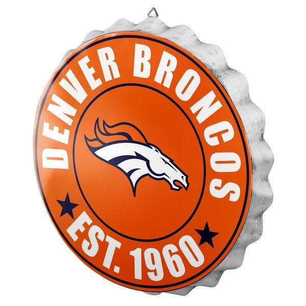 c3324674 Forever Collectibles Licensed NFL Bottlecap Wall Sign for Denver Broncos