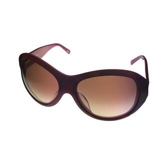 Missoni Womens Sunglass Round Fashion Plastic MI 607 3 Brick Brown Gradient Lens - Medium