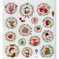 Christmas Animals - Multicolored Stickers