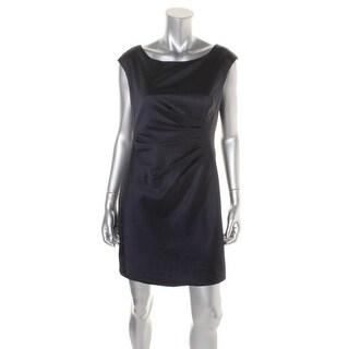 Lauren Ralph Lauren Womens Petites Satin Shutter Pleat Cocktail Dress - 14P