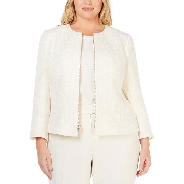 Anne Klein Womens Tweed Jacket. Opens flyout.