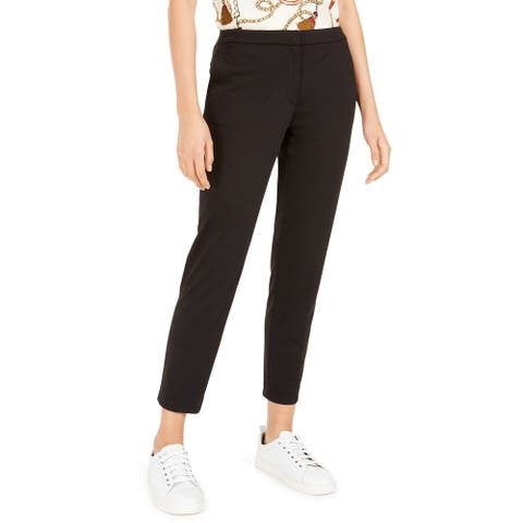 Bar III Women's Straight-Leg Pants Black Size Medium