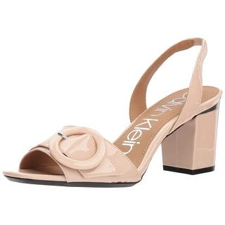 684118849ba Calvin Klein Womens Claudia Patent Satin Open Toe Special Occasion  Slingback .