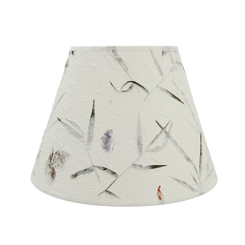 "Aspen Creative Off White Hardback Empire Shaped Spider Construction Lamp Shade (7"" x 13"" x 9 1/2"")"