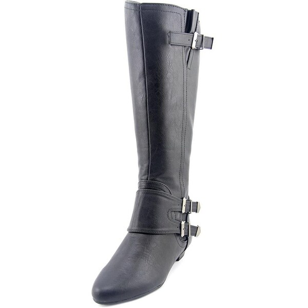 Famous Name Brand Charley Round Toe Synthetic Knee High Boot