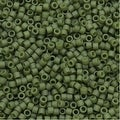 Miyuki Delica Seed Beads 11/0 - Matte Opaque Olive DB391 7.2 Grams - Thumbnail 0