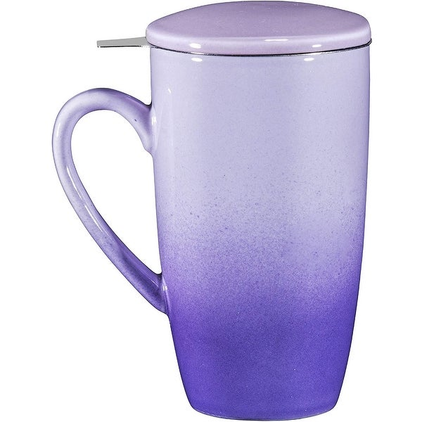 16oz Ceramic Tea Mug with Stainless Steel Infuser. Opens flyout.