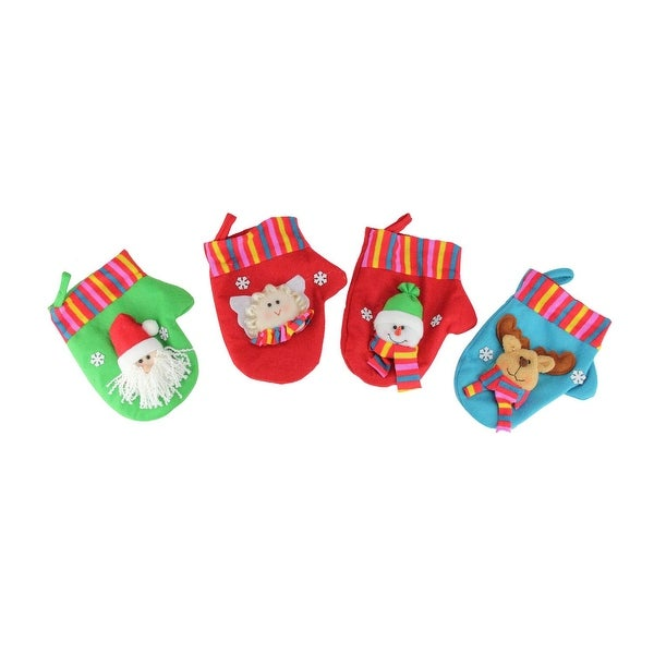 10-Piece Winter Wonderland Christmas Stocking and Novelty Gift Bag Set - RED