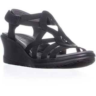 BareTraps Hadley Vecro Wedge Sandals, Black