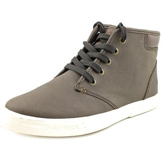 Nautica Breakwater Round Toe Leather Sneakers