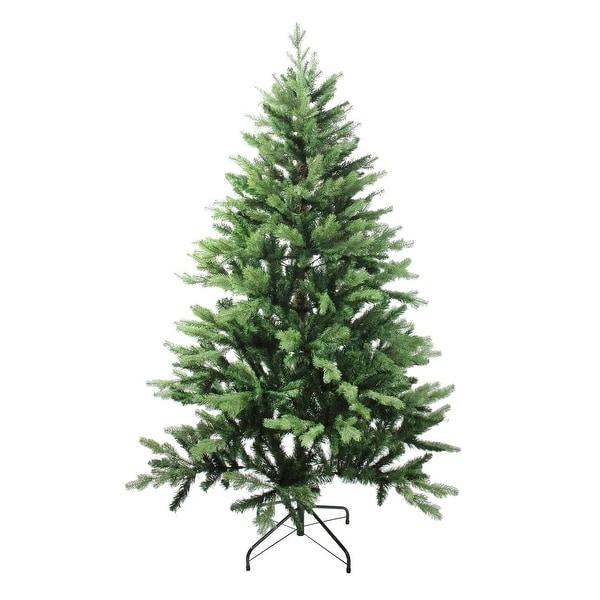 6' Coniferous Mixed Pine Artificial Christmas Tree - Unlit - green