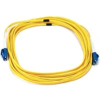 Monoprice Fiber Optic Cable - LC to LC, 9/125 Type, Single Mode, Duplex, Yellow, 5m