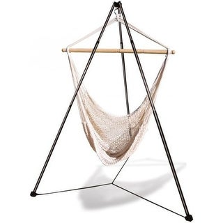Hammaka Cotton & Fiber Netting Net Chair w/ Tripod Combo for Indoor/Outdoor