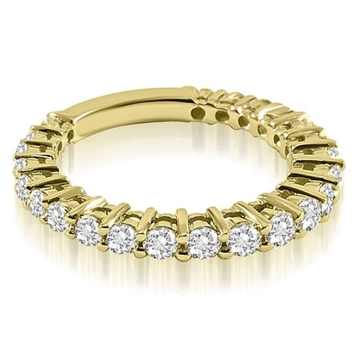 0.75 cttw. 14K Yellow Gold Classic Round Cut Diamond Wedding Band