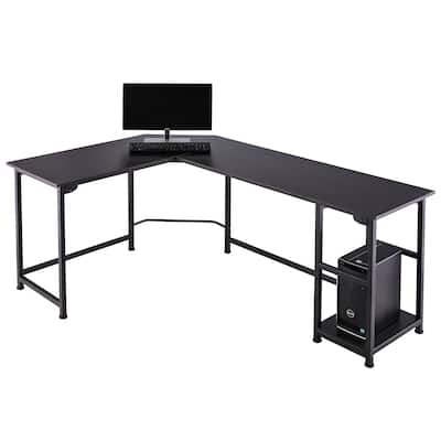 CO-Z L Shaped Computer Corner Desk Gaming Desk with Cable Management