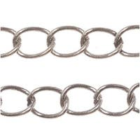 Antiqued Copper Plated Curb Chain 4mm Bulk By The Foot