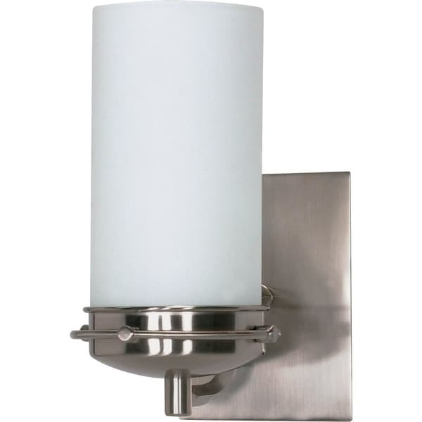 "Nuvo Lighting 60/611 Polaris 1-Light 4-1/2"" Wide Bathroom Sconce with Frosted Glass Shade - Brushed nickel - n/a"