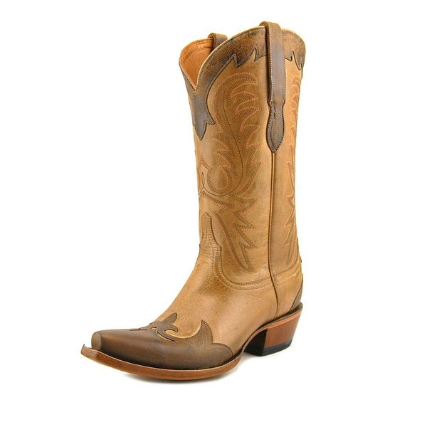 Lucchese Carlos Pointed Toe Leather Western Boot