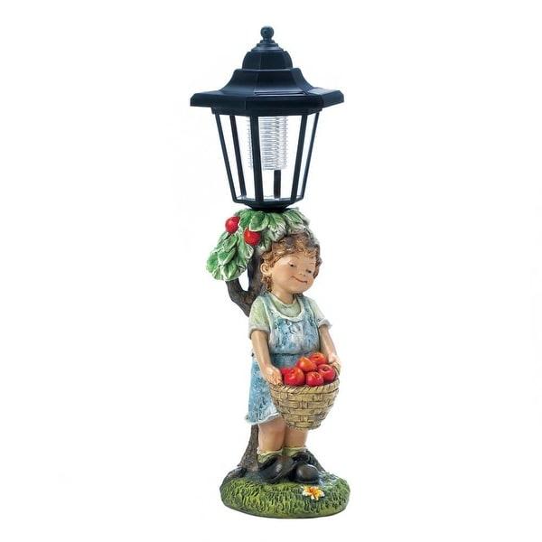 Novelty Apple Basket Solar Street Light Statue