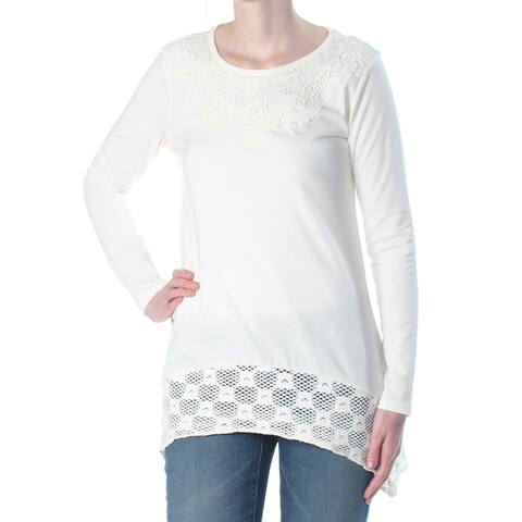 STYLE & COMPANY Womens Ivory Long Sleeve Scoop Neck Sweater Size XS