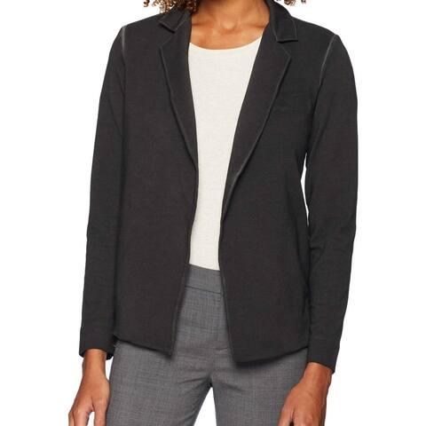 Nic+Zoe Vintage Gray Womens Size XS Open Front Notch Lapel Jacket