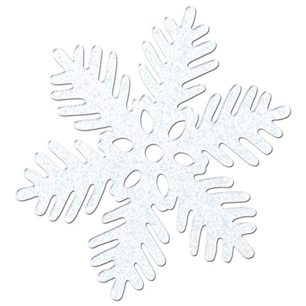 Pack of 24 Christmas Winter White Sparkle Snowflake 8""