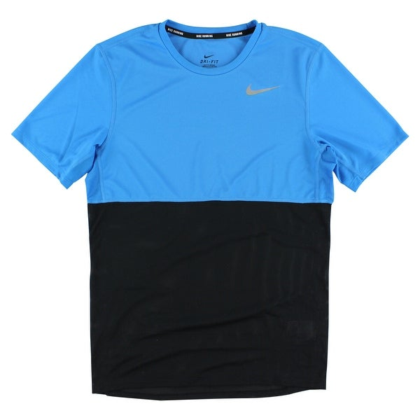 ef2bec10 Shop Nike Mens Racer Dri Fit Short Sleeve T Shirt Photo Blue - Free  Shipping On Orders Over $45 - Overstock - 22615624