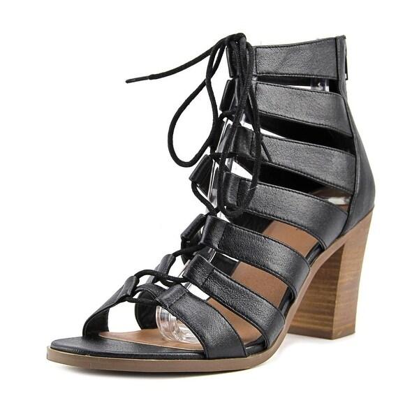 Crown Vintage Danny Women Open Toe Synthetic Black Sandals